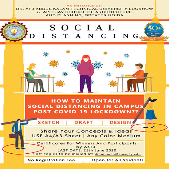 How to maintain social distancing in campus